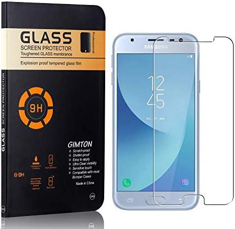 GIMTON Displayschutzfolie für Galaxy J3 Prime, 9H Härte, Blasenfrei, Anti Öl, Ultra Dünn Kratzfest Schutzfolie aus Gehärtetem Glas für Samsung Galaxy J3 Prime, 4 Stück