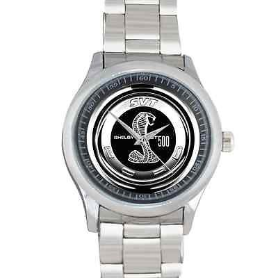 Mustang cobra Logo Custom Watch