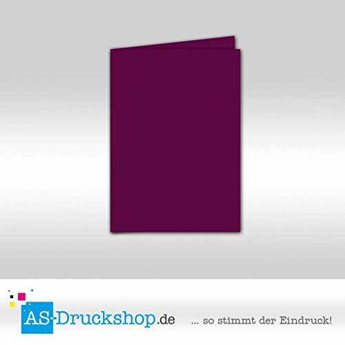 Faltkarte Doppelkarte - Purpur - Samt satiniert 100 Stück DIN A6 B0794YVWX1 | Elegante und robuste Verpackung