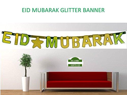 EID MUBARAK Decoration GLITTER BANNERS Wholesale LOTS -Islamic Ramadan decoration (1) from Islamic Gifts 123----USA------