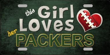 This Girl LOVES her Packers Novelty Metal License Plate - Bay The Order Tracking