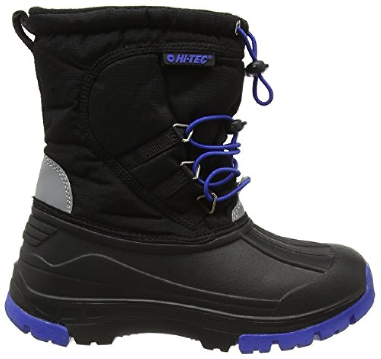 Hi-Tec Boys Alaska Junior Snow Boots Shoes, Black (Black/Cobalt 021), 1 UK 33 EU