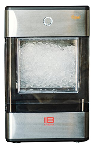 (FirstBuild Opal01 Opal Nugget Ice Maker Portable, Countertop, Stainless Steel with Black Accents, 1-(Pack),)