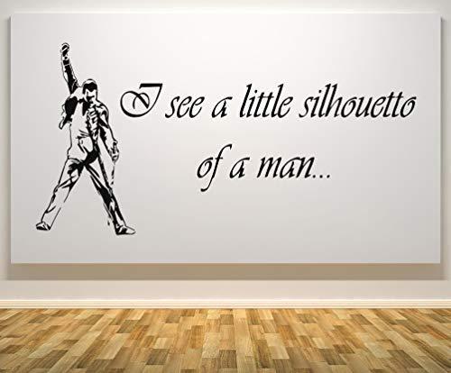 FREDDIE MERCURY WALL ART STICKER DECAL SMALL OR MEDIUM