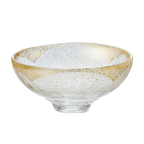 TOKYO MATCHA SELECTION - GIYAMAN - Glass Matcha Bowl : Clear Gold - Japanese Glass Matchawan Tea Ceremony [Standard ship by SAL with Tracking number & Insurance] by Tokyo Matcha Selection