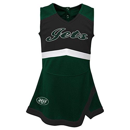 Outerstuff NFL NFL New York Jets Infant Cheer Captain Jumper Dress Hunter Green, 24 Months