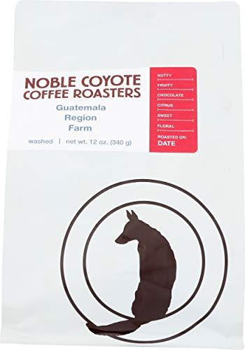 Noble Coyote Coffee Roasters, Guatemala Huehuetenango Whole Bean, 12 Ounce