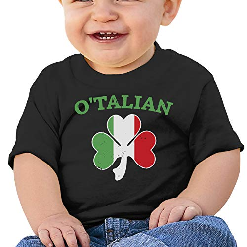 (ANYE&&HF O'Talian Italian Irish Shamrock Baby Girls Short-Sleeve)