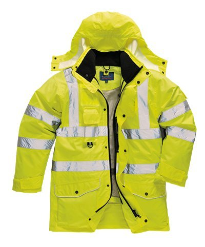 (Portwest US427YERXL Regular Fit Hi-Vis 7-in-1 Traffic Jacket, X-Large, Yellow)