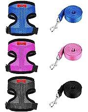 Adjustable Chicken Harness Pet Walk Training Vest with Leash Breathable Belt S 3PCS