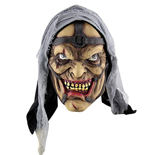 Festival Party Supplies Halloween Latex Mask Horrifying Mask Latex Mask with Hat for Masquerade Halloween Costume Bar Realistic (Color : C) -
