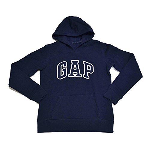 (GAP Womens Fleece Arch Logo Pullover Hoodie (Navy, Medium))