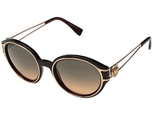 Versace Women's VE4342 Transparent Brown/Pink Gold/Orange Gradient Light Grey One - Sunglasses Versace Pink