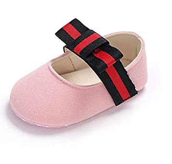 Amazon.com : Girl Baby Princess Moccasins Moccs Shoes 2018 (Pink, US2(Insole Length About 12 cm)) : Baby