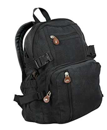 Rothco Black Vintage Compact Backpack