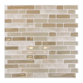 Mosaik Self Adhesive High Gloss Mosaic In Light Beige