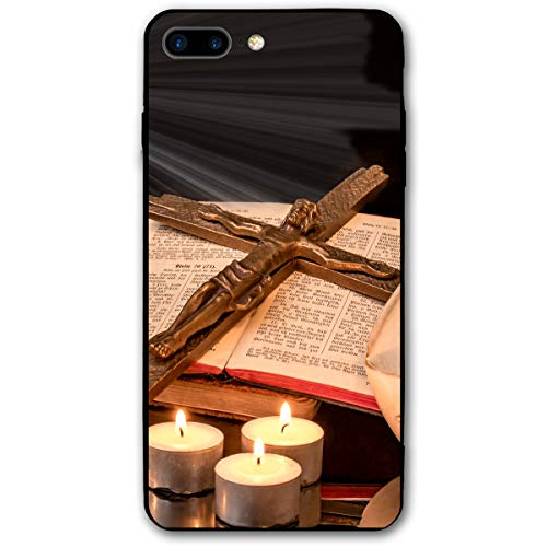Easter Candle Jesus On The Cross iPhone 8 Plus Case, iPhone 7 Plus Case, Ultra Thin Lightweight Cover Shell, Anti Scratch Durable, Shock Absorb Bumper Environmental Protection Case Cover ()