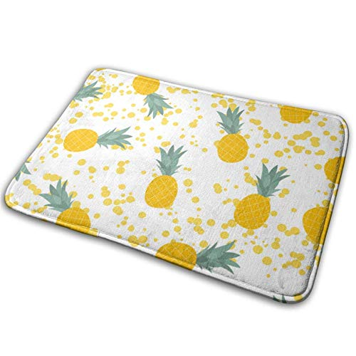 Pineapple Natural,Pineapple Comfy,Anti-Slips,Bath Living Room Kitchen Outside,Floor Mats Rug Pads Carpet from Hylionee6.