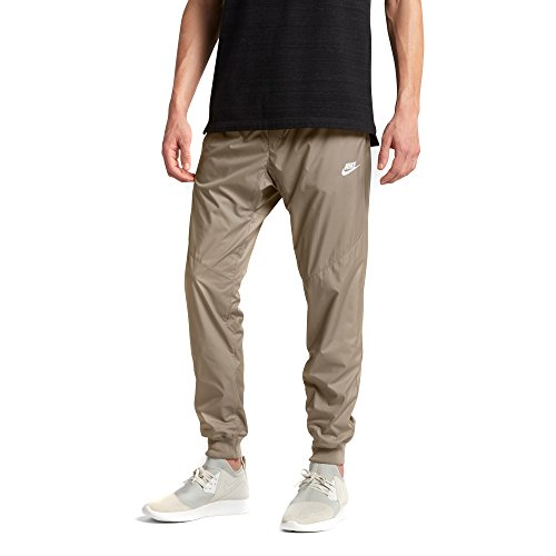 NIKE Sportswear Windrunner Men's Pants (Khaki/White, (Nike Khaki Pants)