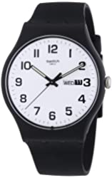 Swatch Twice Again White Dial Plastic Silicone Quartz Unisex Watch SUOB705