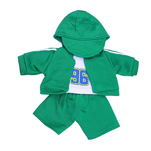 Hat & T-shirt & Coat & Pants set for 18 inch Girl & Boy Doll, NOMENI 2018 Cool Doll Outwear For 18 inch American Girl Doll (Army (Category Kids Pants)