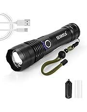 Lanterna Tática Militar LED de Alto Brilho Com Zoom, A Prova D'água para emergências, lanterna de acampamento, tocha de alta potência (Bateria AAA)