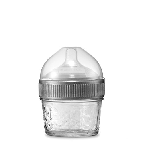 4 Ounce Original Mason Bottle: The Glass Baby Bottle Made With Mason Jars, Comes With Slow Flow Nipple, Made in the USA]()