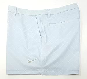 "NIKE Women's Dri-fit Flex Print 4.5"" Golf Shorts (Size: 4) Light Ice Blue Grey/White"