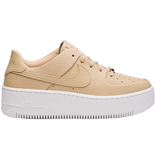 Nike Womens Air Force 1 Sage Low Leather Desert Ore White Trainers 9 US