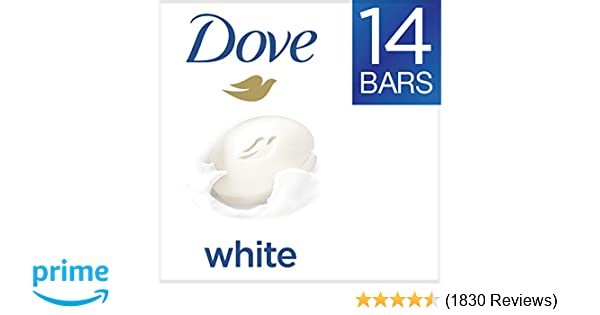 Dove White Beauty Bar 4 Ounce, 14 Count (Pack of 1)