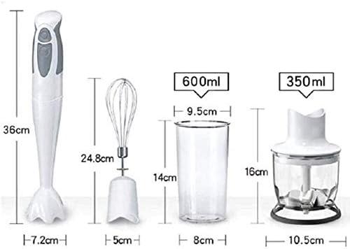 DWLXSH Inmersión palillo del Mezclador de Mano, 4-en-1 batidora de Mano con 350 ml de Alimentos Chopper, 600 ml de Mezcla Vaso de Laboratorio, Bata, en Alimentos for bebés, Sopa: Amazon.es