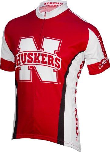Adrenaline Promotions Nebraska Cycling Jersey, Red, (Nebraska Red Jersey)