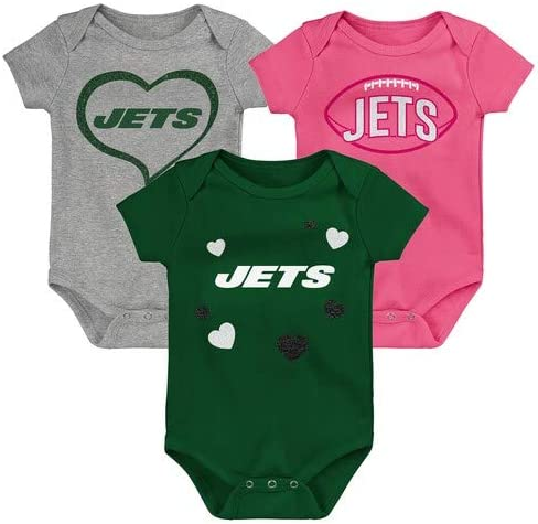 Outerstuff New York Jets 3 Pack Bodysuits Girls 3-6 Month