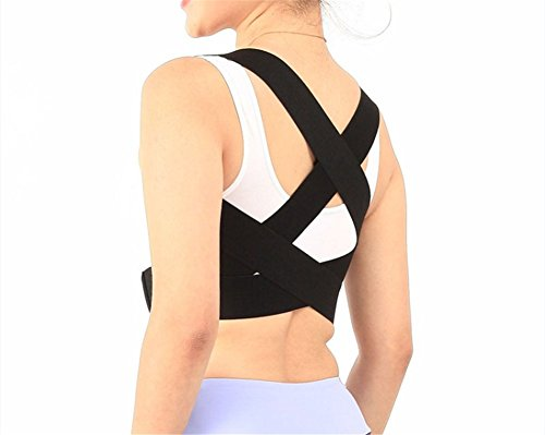 ILOLSports Clavicle Support Straightener Back Posture Brace Back up Strap for Adults and Student