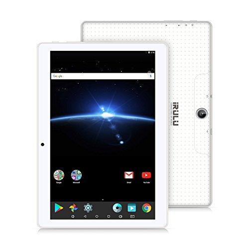 10.1 Tablet Google Android 7.1, IPS Display, Quad Core 1.2Ghz,1GB/16GB,Flash Play,G-Sensor,Dual Camera, Bluetooth 4.0, 1GB/16GB, WiFi,GMS Certified ,iRULU eXpro 3 Plus (X3Plus)-X30,White