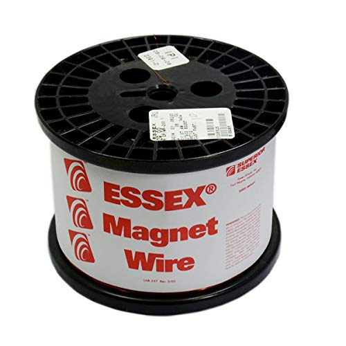 Spool Essex Enameled Magnet Wire - Essex Magnet Wire 18 AWG Enameled Copper Wire - for Transformer, Generator, Motor and Electronics Winding - Genuine Essex Heavy Build HTAIH 200 Degree Enamel Wire 10 LB Spool