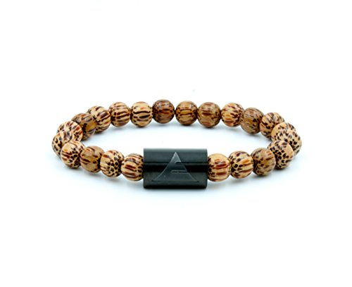 Everwood - The Solid Wooden Beaded Bracelet Coconut Palm Wood - Size S/M ()