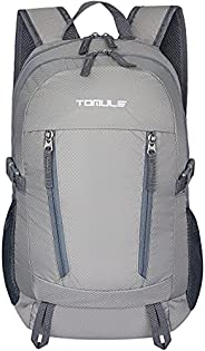 TOMULE 25L Small Hiking Backpack Travel Daypack, Water Resistant Packable Camping Bike Backpack for Women Men