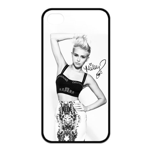 Fayruz- Miley Cyrus Protective Hard TPU Rubber Cover Case for iPhone 4 / 4S Phone Cases A-i4K257