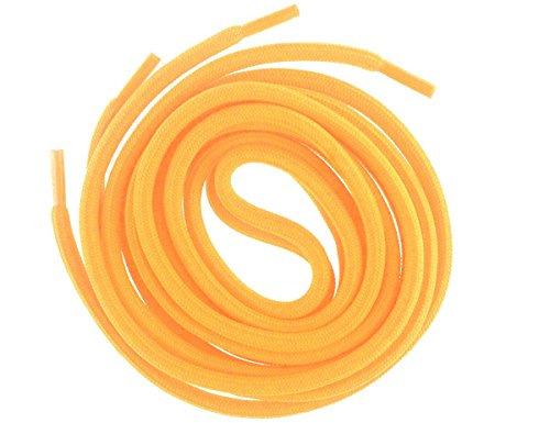 (Mshega 6mm Round Athletic Shoelaces Solid Colors Shoe Laces (Gold,140))