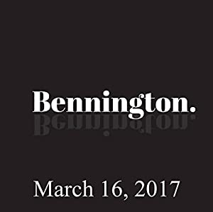 Bennington, March 16, 2017 Radio/TV Program