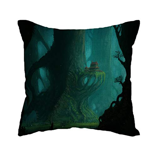 WFeieig_Halloween Corduroy Soft Soild Decorative Square Throw Pillow Covers Cushion Cases Pillow Cases for Couch Sofa Bedroom Car Inch]()