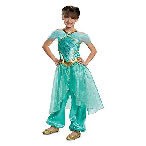 Disney Girls Princess Jasmine Deluxe Child Dress Up Halloween Costume - Small (4-6X)