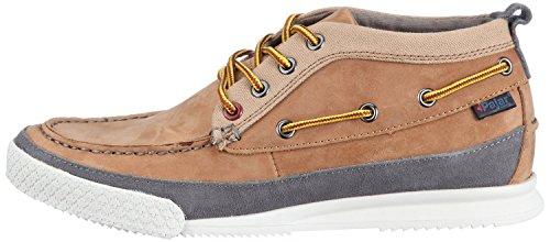 Sneaker Pajar Tan grey Leder tan Grey Yahs 4wCzwqxS