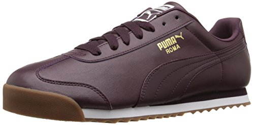 PUMA Men's Roma Basic Fashion Sneaker, Winetasting/Puma White - 8.5 D(M) US