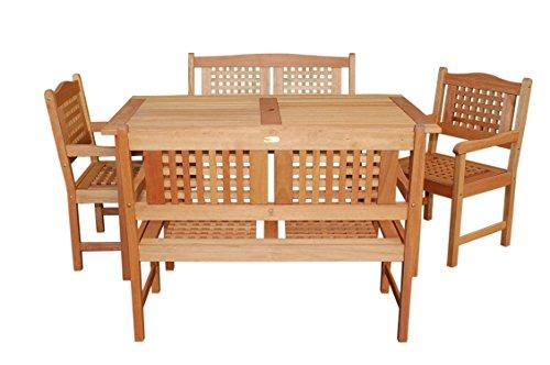 UPC 870069001122, Amazonia Milano 5-Piece Rectangular Porto Bench Set