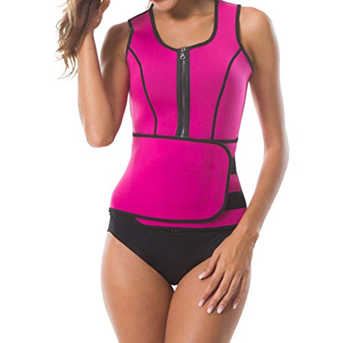 e3a4b454a2 Full Body Shaper Sweat Bodysuit Sleeve Shapewear Slimming Suit Weight Loss  Gym Sport Corsets Hot Pink