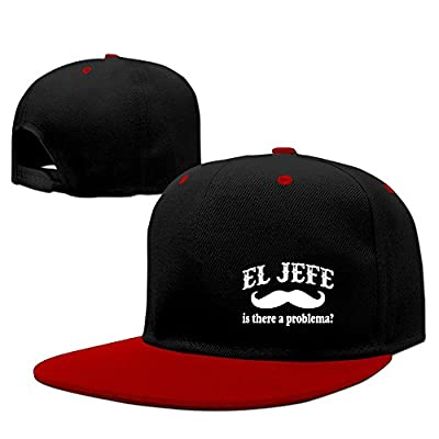 El Jefe -The Boss In Spanish Funny Mexican Adjustable Contrast Color Hip-Hop Snapback Hat Hats One Size