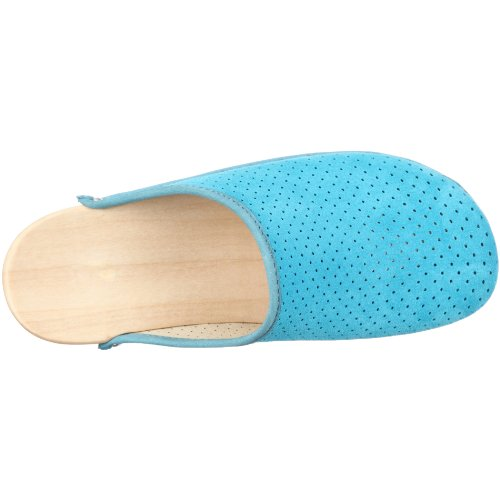 Berkemann Standard-Toeffler 00400-367 - Zuecos de ante para mujer Azul