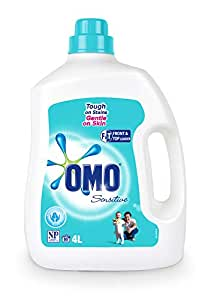 Omo Sensitive Laundry Liquid Detergent Front & Top Loader 4L